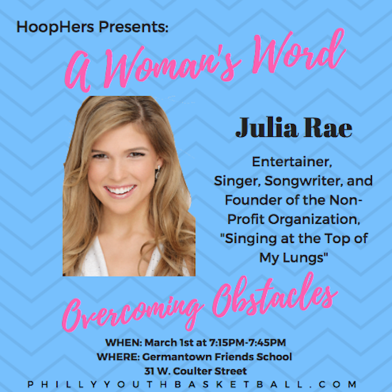 HoopHers Forum – Week 5 [3.1.18] Julia Rae